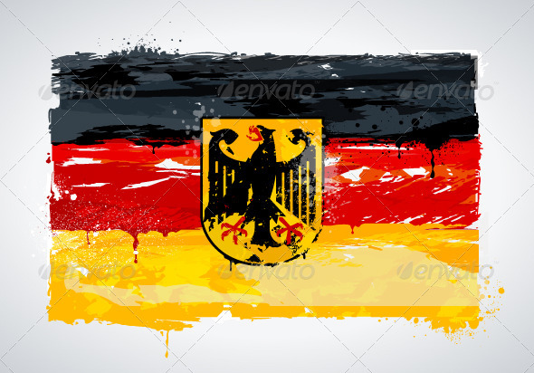 Grunge Germany national flag - Travel Conceptual
