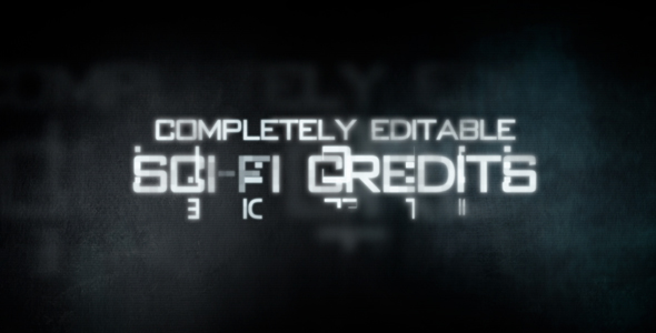 After Effects Project - VideoHive Sci-Fi Credits 246056