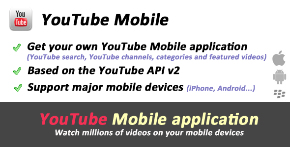 YouTube API Mobile - Videos site - CodeCanyon Item for Sale