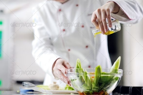 chef preparing meal - Stock Photo - Images