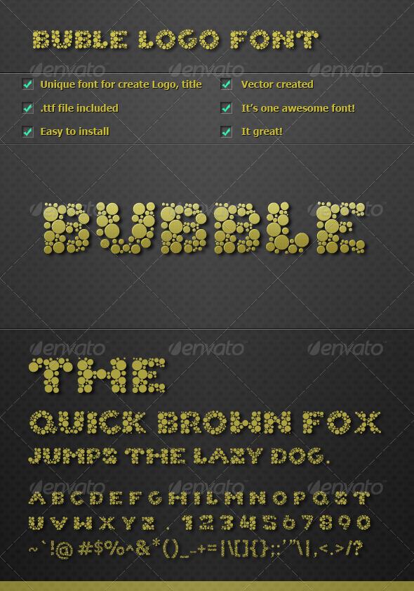 GraphicRiver Bubble Logo Font v1.0 2080019