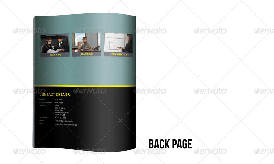 A4 4 Page Business Brochure