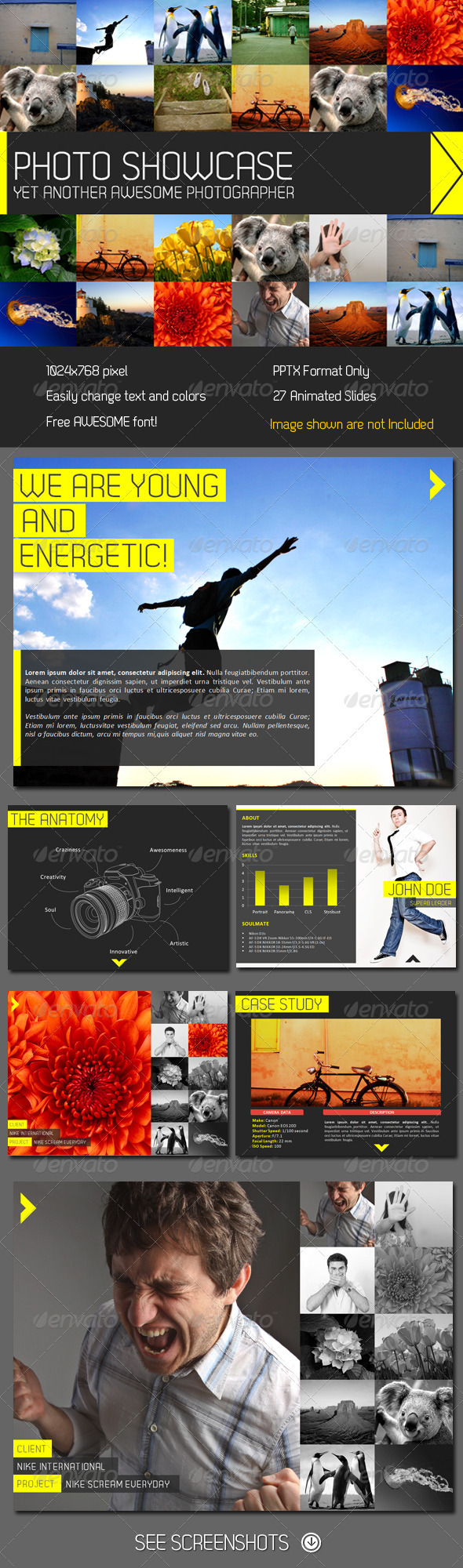 Showcase PowerPoint Presentation - Creative Powerpoint Templates