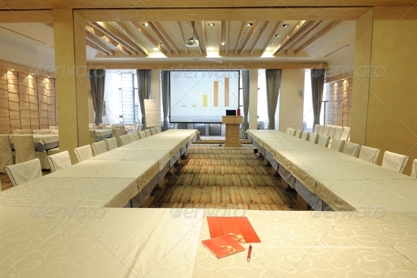 Empty business conference room - Stock Photo - Images
