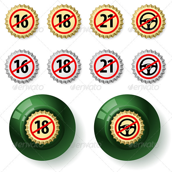 Bottle caps - Miscellaneous Vectors