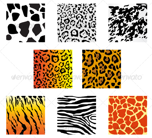 Set of animal fur and skin patterns - Patterns Decorative