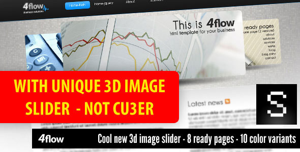 4flow - with unique 3D image slider - Corporate Site Templates