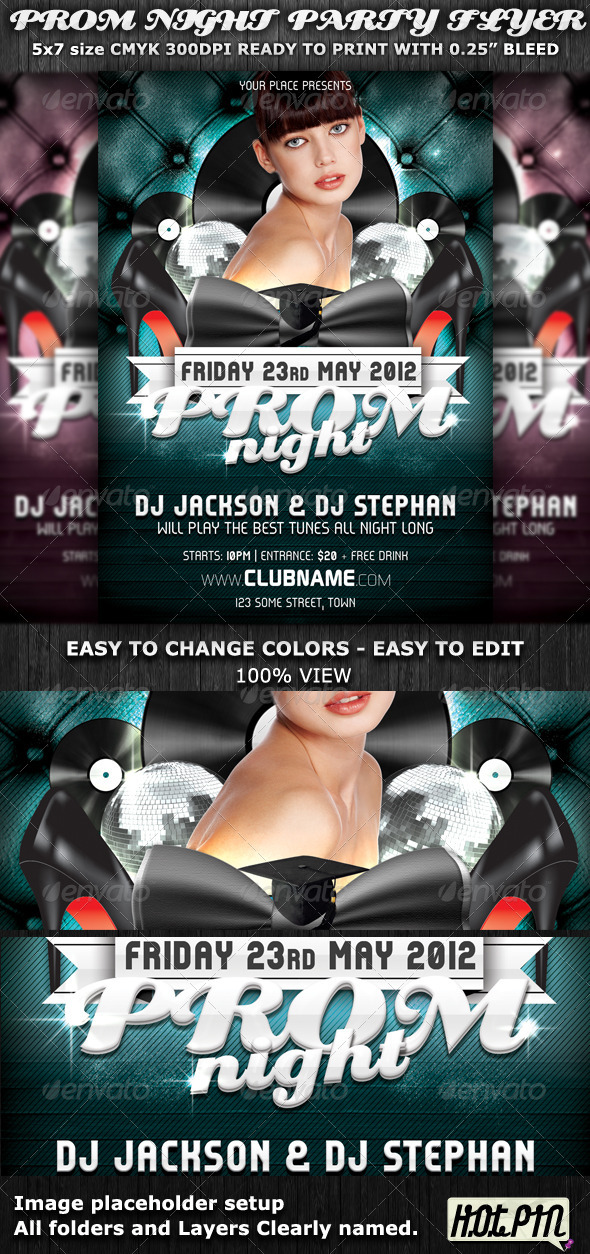 GraphicRiver Prom Night Party Flyer Template 2148634