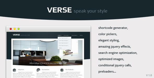 ThemeForest Verse Enterprise & Business 247006