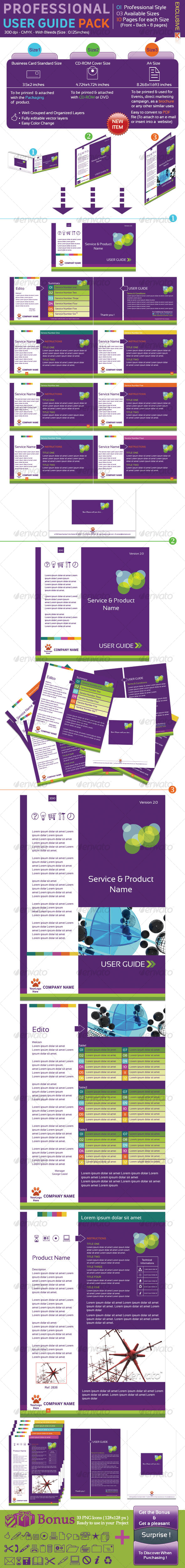 Professional User Guide Pack - Miscellaneous Print Templates