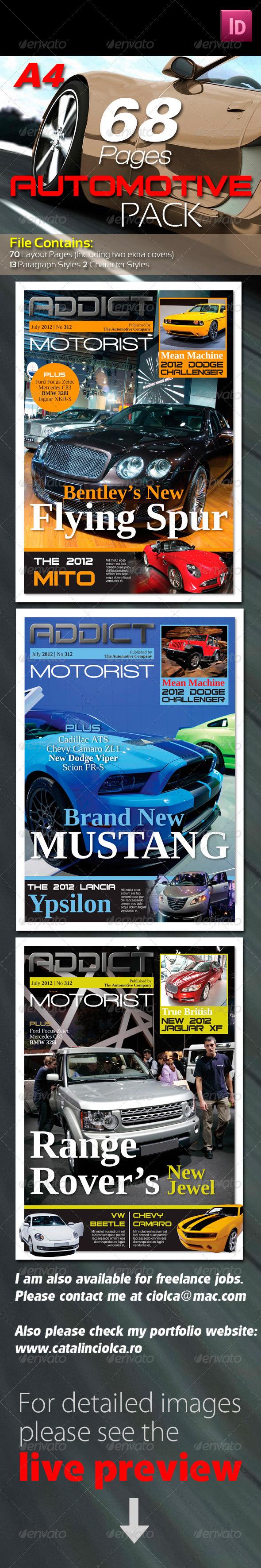 GraphicRiver 68 Pages Automotive Magazine Pack 1765390