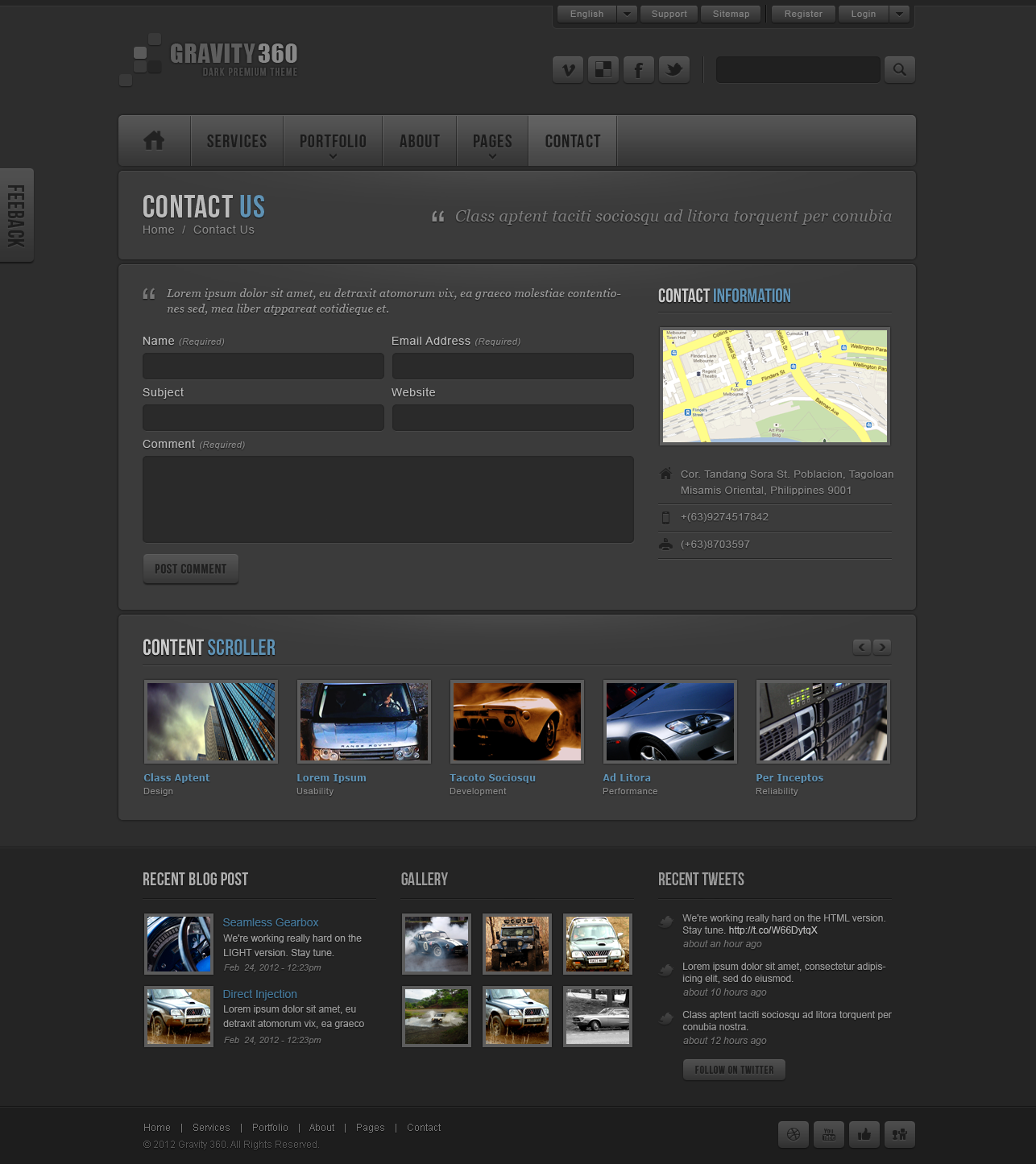 Gravity 360 - Dark Premium PSD Theme