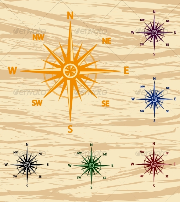GraphicRiver wind rose 81943