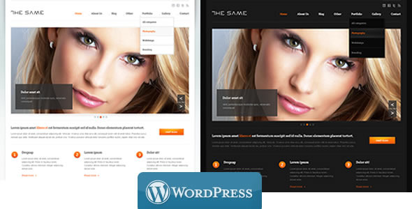 WordPress Business TheSame Template - Screenshot 1