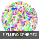 5 Abstract Fluro Spheres - GraphicRiver Item for Sale
