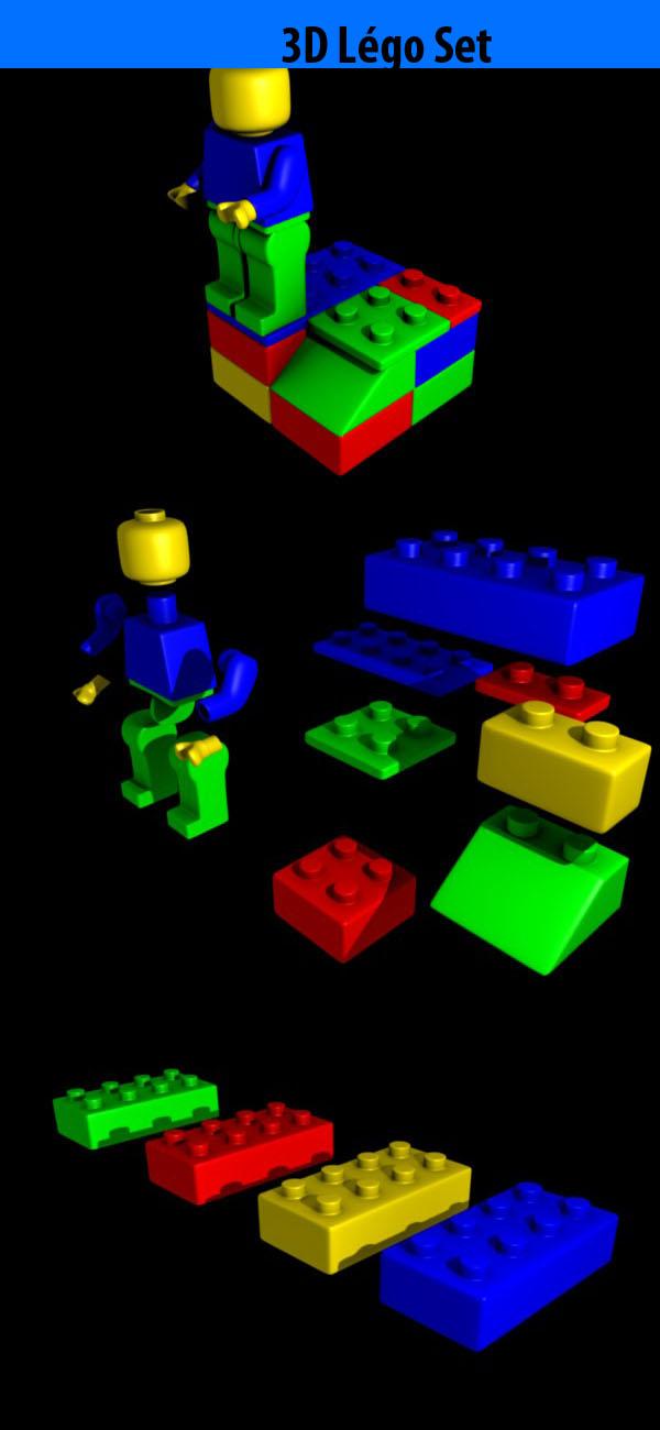 3DOcean High Poly Lego set 82015