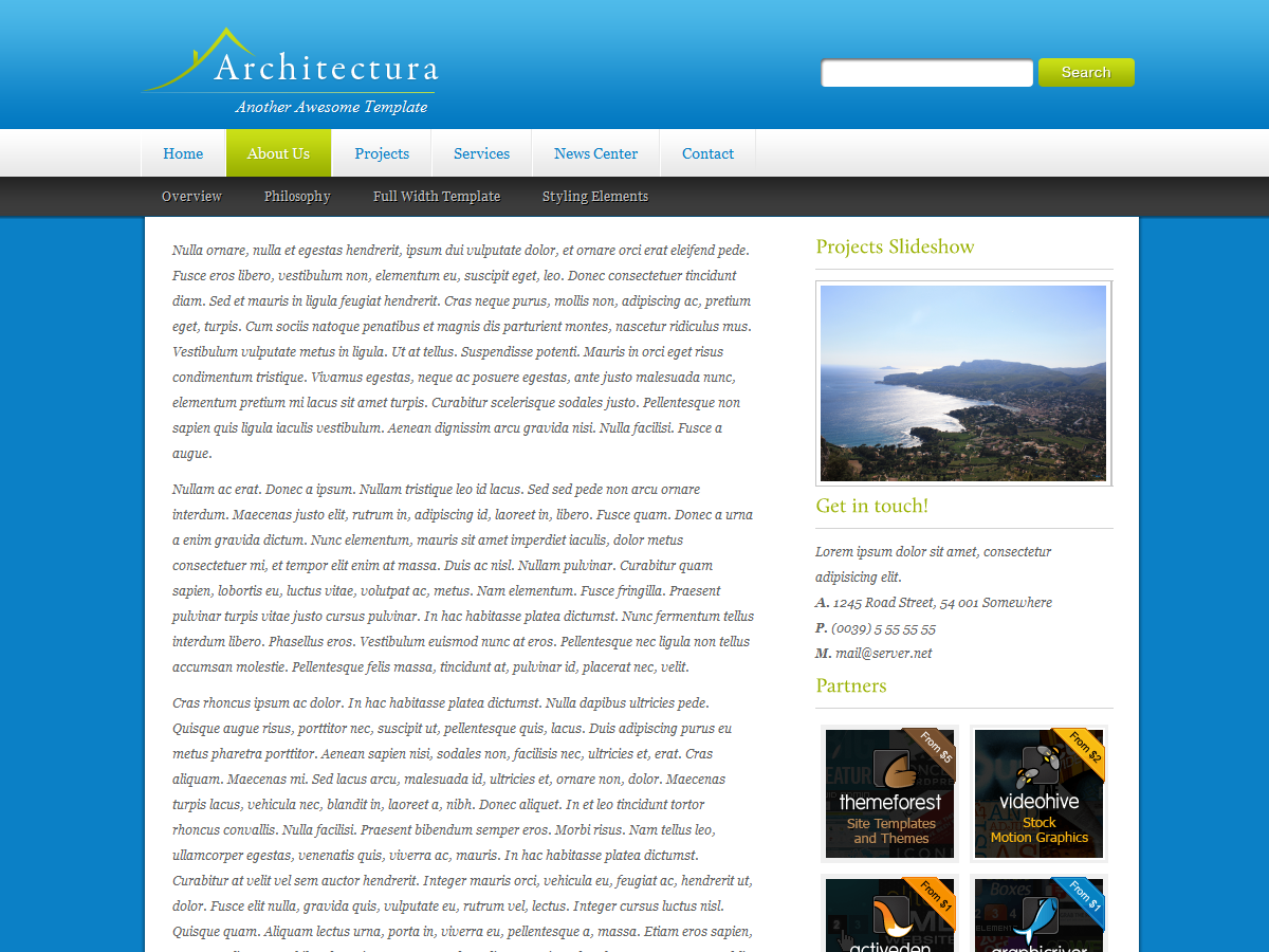 Architectura Wordpress Theme (CMS)