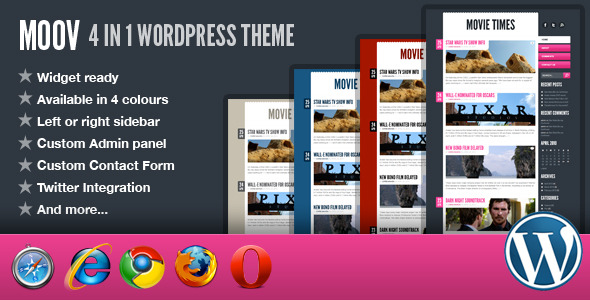 Moov - 4 in 1 Wordpress Theme