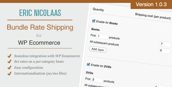 CodeCanyon WP E-Commerce Bundle Rate Shipping Plugin 1376530