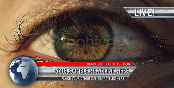 VideoHive Corporate Lower Third With Hi-Res Rotating Globe 2162654