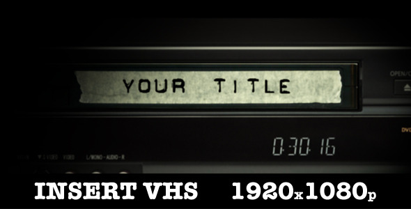 After Effects Project - VideoHive Insert Vhs Title 1965931