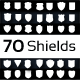 70 Emblem Shields  - GraphicRiver Item for Sale