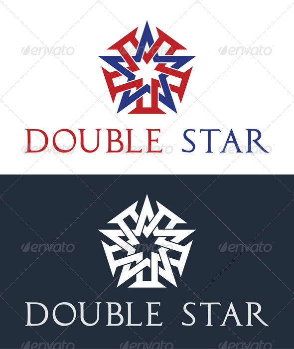 Double Star Logo Template - Symbols Logo Templates