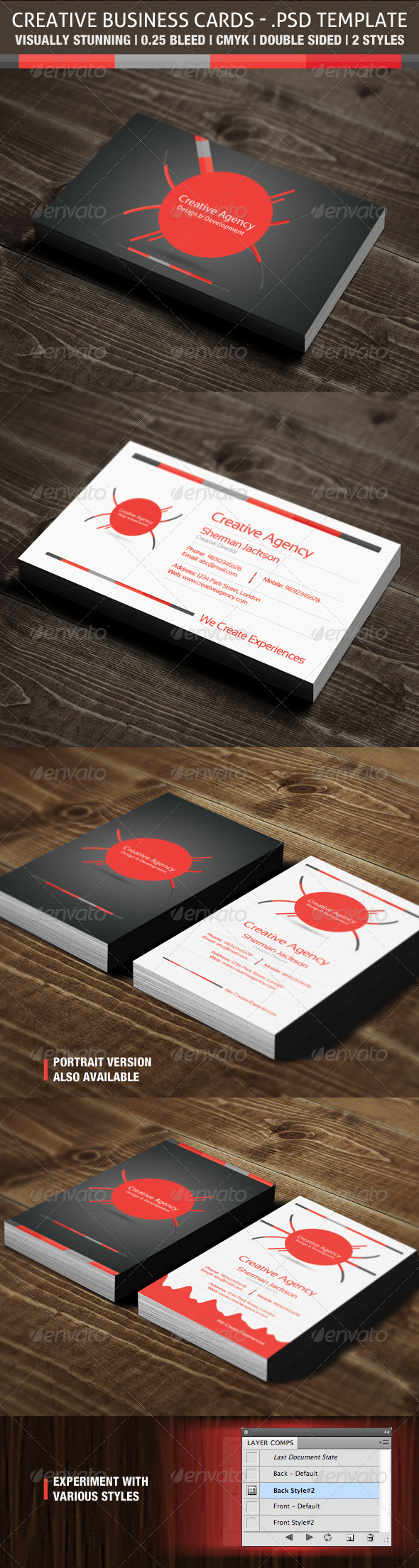 Creative Business Cards - Creative Agency - Business Cards Print Templates