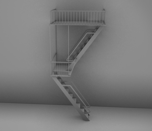 3DOcean Detailed High Poly Fire Escape 82212