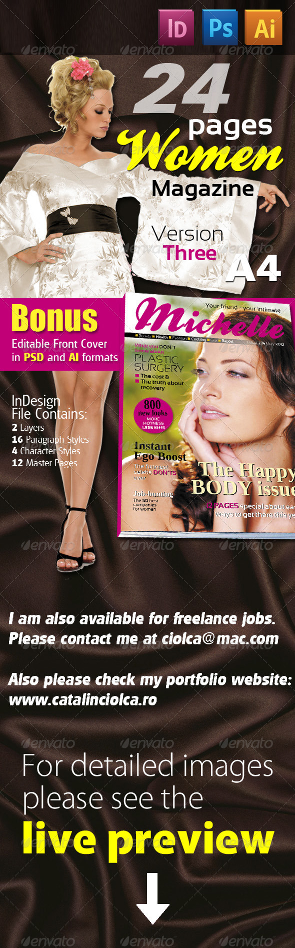 24 Pages Women Magazine Version Three - Magazines Print Templates