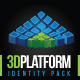 3D platform Brand Identity - GraphicRiver Item for Sale
