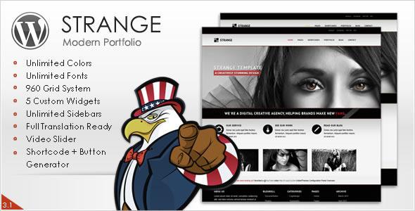 ThemeForest Strange Modern Portfolio WordPress Theme 537711