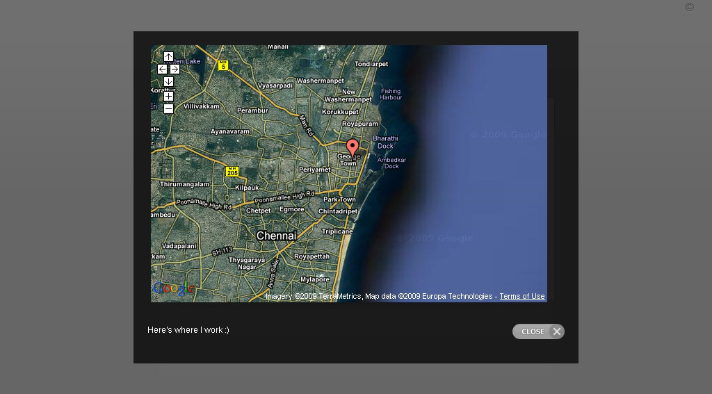 Resume (CV) Perfecto - This theme even facilitates the display of Google Map in a lightbox.
