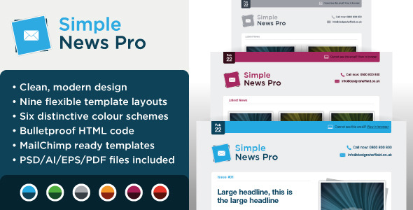 Simple News Pro - Email Marketing Template