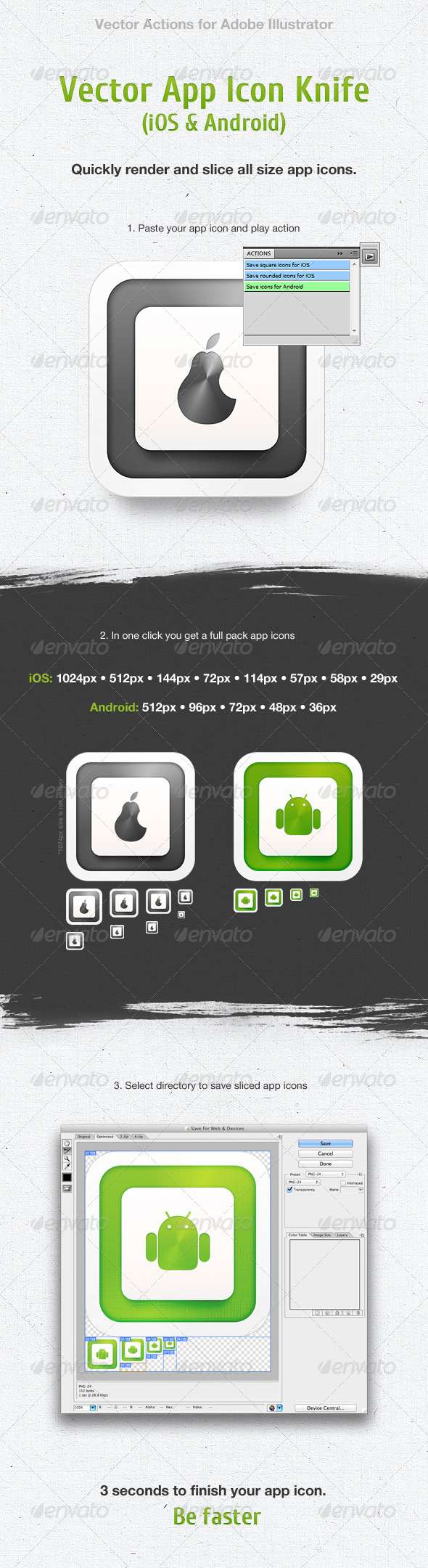 Vector App Icon Knife - Actions Illustrator