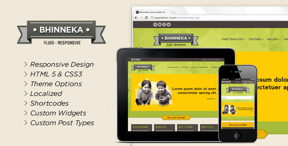 Bhinneka - a Responsive WordPress Theme - Overview