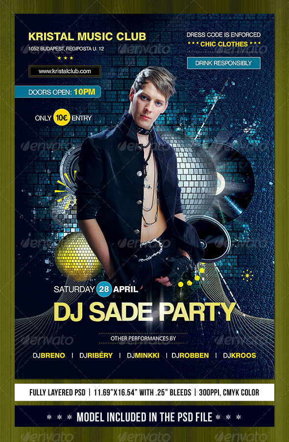 A3 Club Party Poster/Flyer - Clubs & Parties Events