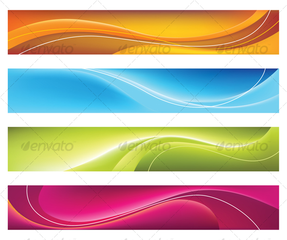 Four Colorful Banners - Backgrounds Business