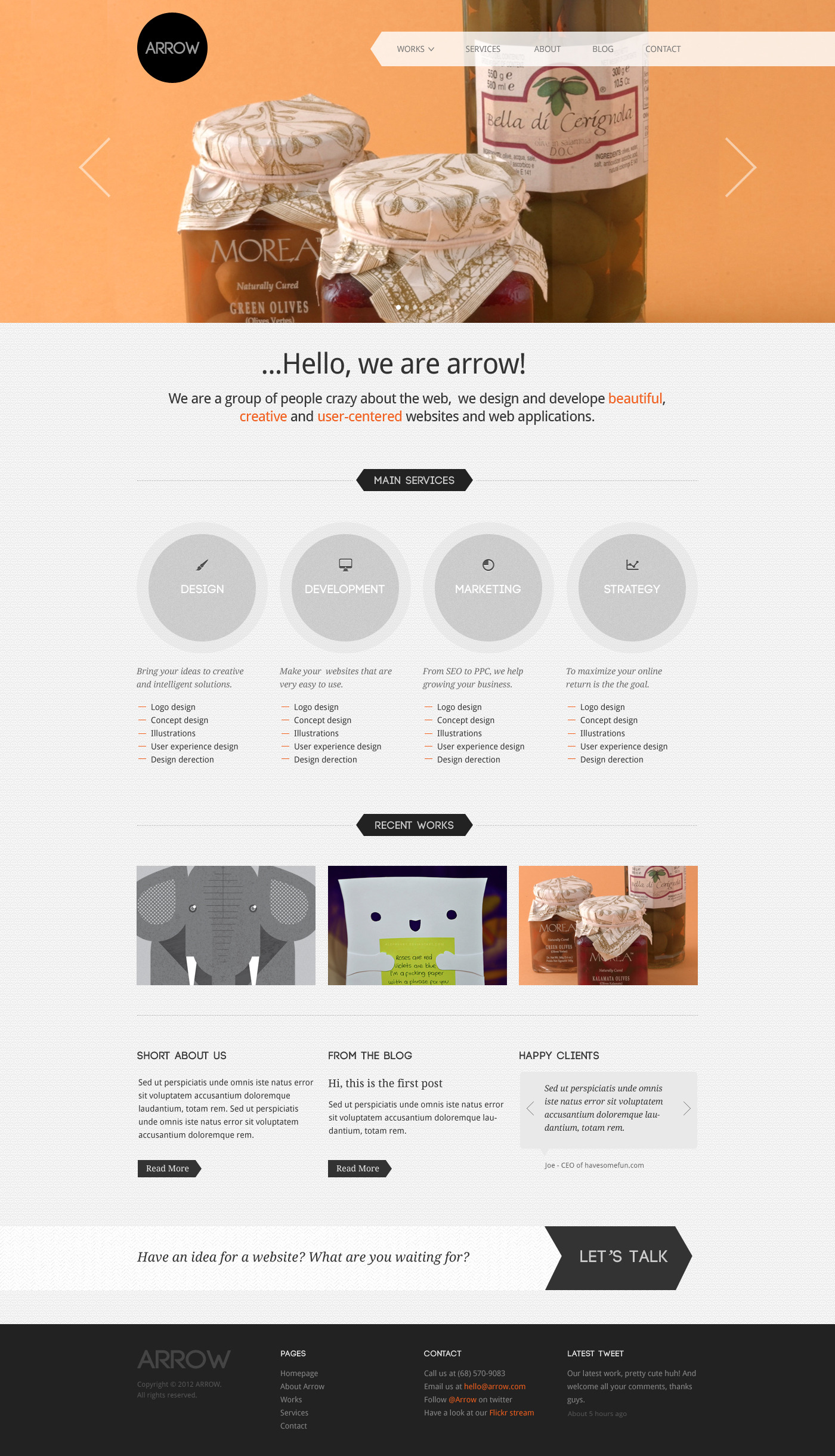Arrow: Business Portfolio PSD Template -