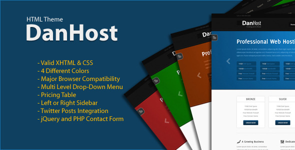 ThemeForest DanHost Hosting Theme 2195245