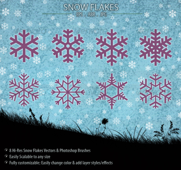 GraphicRiver Snow Flakes 76319