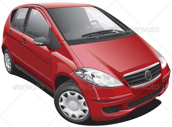 European Modern Minivan - Objects Vectors