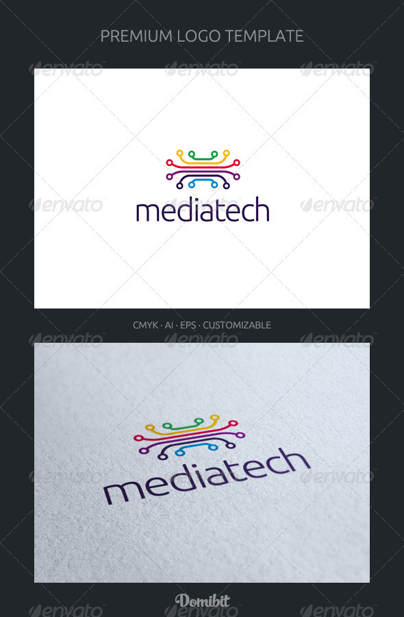 Media Tech Logo Template - Abstract Logo Templates