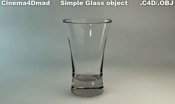 Simple Glass - 3DOcean Item for Sale