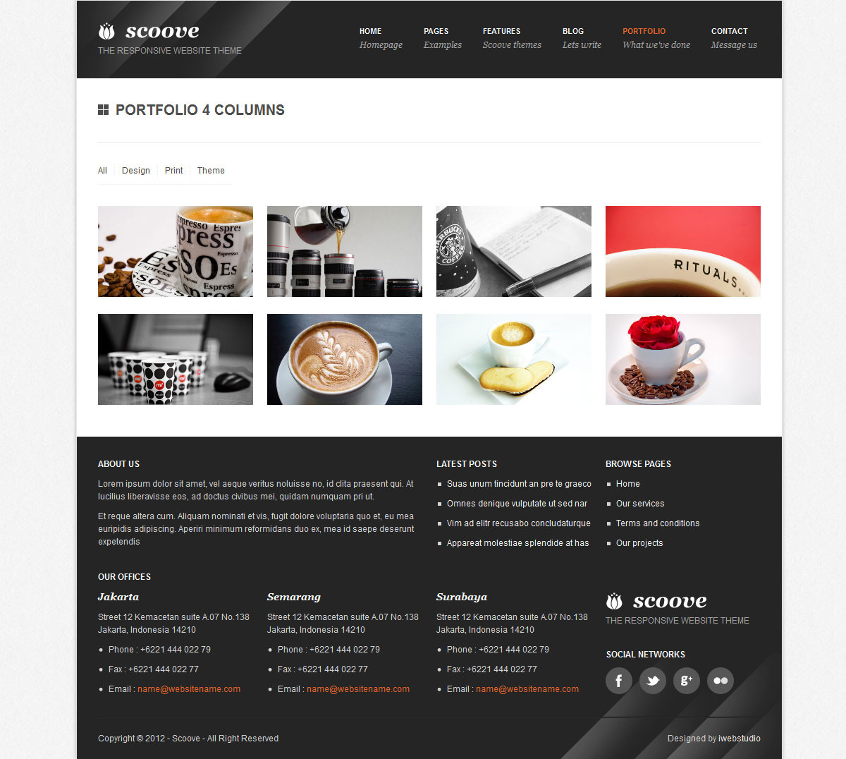 Scoove responsive corporate website theme