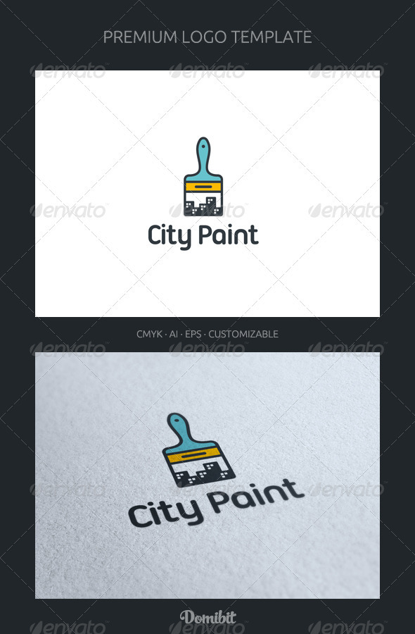 City Paint Logo Template - Objects Logo Templates
