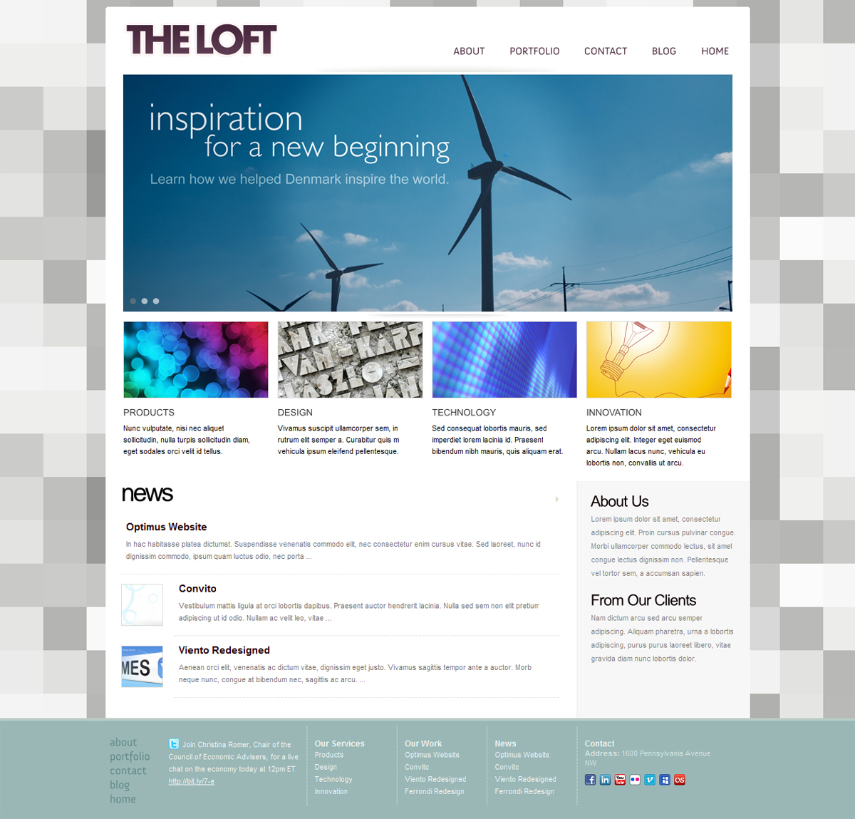 The Loft - Business & Portfolio Theme - 4x1