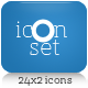 Icon Set - Web 2.0 - 24x2 Light & Dark - GraphicRiver Item for Sale