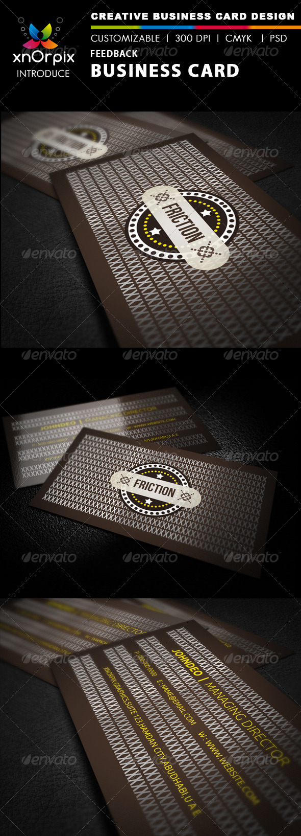 Feedback Business Card - Business Cards Print Templates