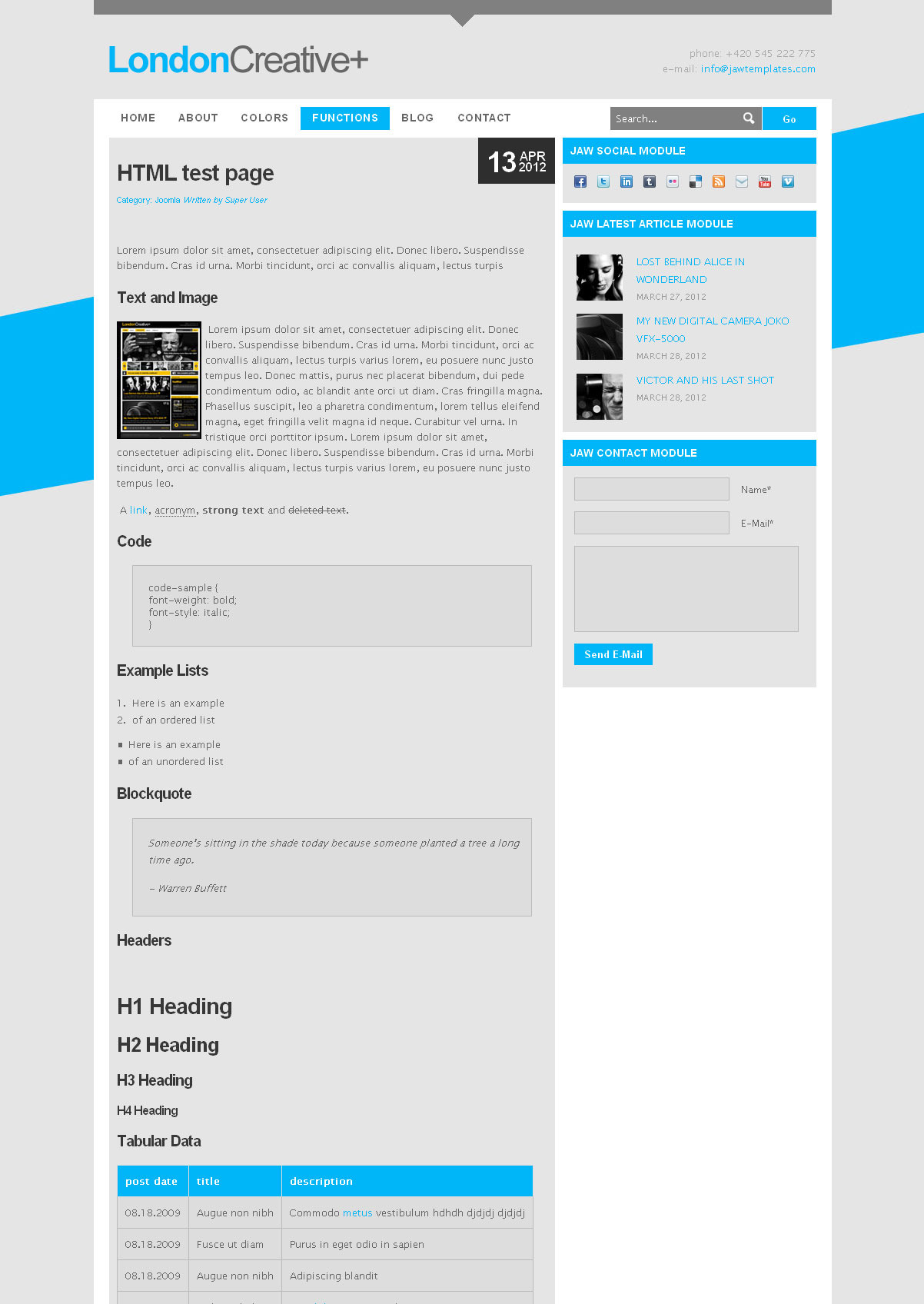 London Creative + (Portfolio & Blog Joomla Theme)